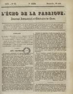 L'Echo de la fabrique, N°33, pp. 1