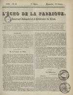 L'Echo de la fabrique, N°41, pp. 1