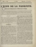 L'Echo de la fabrique, N°46, pp. 1