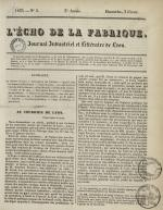 L'Echo de la fabrique, N°5, pp. 1