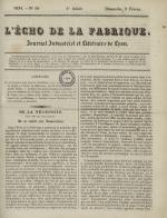 L'Echo de la fabrique, N°58, pp. 1
