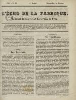L'Echo de la fabrique, N°59, pp. 1