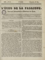 L'Echo de la fabrique, N°65, pp. 1