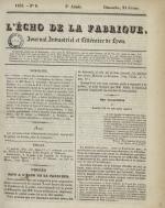 L'Echo de la fabrique, N°8, pp. 1