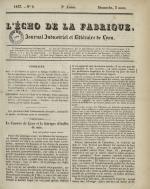 L'Echo de la fabrique, N°9, pp. 1
