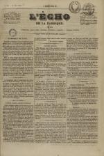 L'Echo de la fabrique de 1841, N°18