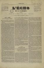 L'Echo de la fabrique de 1841, N°2