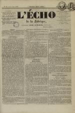 L'Echo de la fabrique de 1841, N°92