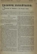 Tribune prolétaire, N°1