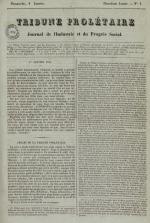 Tribune prolétaire, N°1, pp. 1