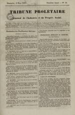 Tribune prolétaire, N°10, pp. 1