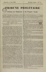 Tribune prolétaire, N°14, pp. 1