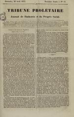 Tribune prolétaire, N°17, pp. 1