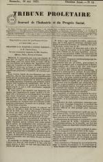 Tribune prolétaire, N°19, pp. 1
