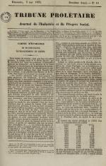 Tribune prolétaire, N°18, pp. 1