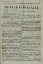 Tribune prolétaire, N°2