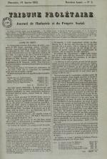 Tribune prolétaire, N°2, pp. 1