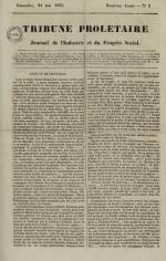 Tribune prolétaire, N°21, pp. 1