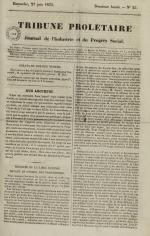Tribune prolétaire, N°25, pp. 1