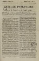 Tribune prolétaire, N°27, pp. 1