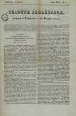 Tribune prolétaire, N°5, pp. 1