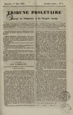 Tribune prolétaire, N°9, pp. 1