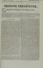 Tribune prolétaire, N°9