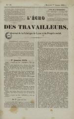 L'Echo des travailleurs, N°18, pp. 1