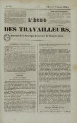 L'Echo des travailleurs, N°22, pp. 1