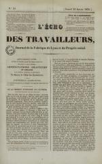 L'Echo des travailleurs, N°25, pp. 1