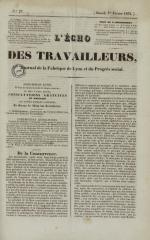 L'Echo des travailleurs, N°27, pp. 1