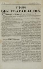 L'Echo des travailleurs, N°33, pp. 1