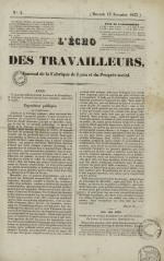 L'Echo des travailleurs, N°4, pp. 1
