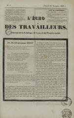 L'Echo des travailleurs, N°7, pp. 1