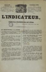 L'Indicateur, N°1