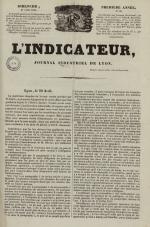 L'Indicateur, N°30, pp. 1