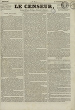 Le Censeur : journal de Lyon, politique, industriel et littéraire, N°10