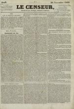 Le Censeur : journal de Lyon, politique, industriel et littéraire, N°1