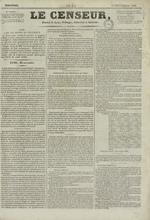 Le Censeur : journal de Lyon, politique, industriel et littéraire, N°4