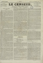 Le Censeur : journal de Lyon, politique, industriel et littéraire, N°5
