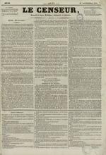 Le Censeur : journal de Lyon, politique, industriel et littéraire, N°7