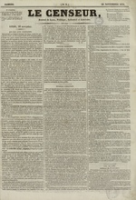 Le Censeur : journal de Lyon, politique, industriel et littéraire, N°9