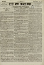 Le Censeur : journal de Lyon, politique, industriel et littéraire, N°8