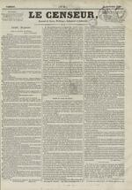 Le Censeur : journal de Lyon, politique, industriel et littéraire, N°61