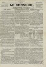 Le Censeur : journal de Lyon, politique, industriel et littéraire, N°63