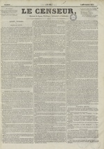 Le Censeur : journal de Lyon, politique, industriel et littéraire, N°62