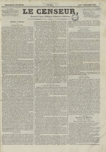 Le Censeur : journal de Lyon, politique, industriel et littéraire, N°64