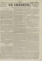 Le Censeur : journal de Lyon, politique, industriel et littéraire, N°66