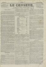 Le Censeur : journal de Lyon, politique, industriel et littéraire, N°65