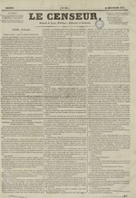 Le Censeur : journal de Lyon, politique, industriel et littéraire, N°69